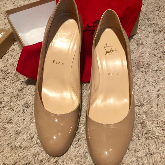 promo code e2ff2 d8b34 Louboutin Simple Pump 70 Calf, Nude